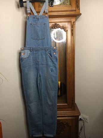 Ogrodniczki jeansowe, r. 152