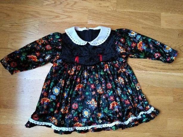 welurowa sukieneczka/tunika, rozm. 68