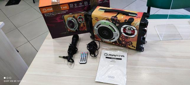 Głośnik przenośny MANTA SPK1003 HELIOS / KOMPLET/ Mikrofon + Zasilacz