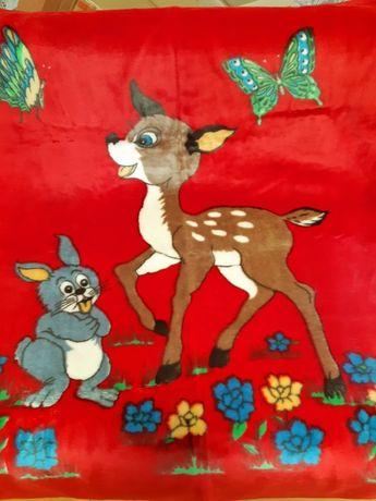 Детские велюровое и шерстяное одеяло. Байковое взрослое и шёлковое  по