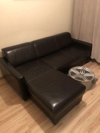 Skórzana kanapa narożna