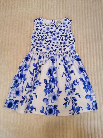 Платье летнее лёгкое нарядное 5-6 л 104-116см next zara h&m