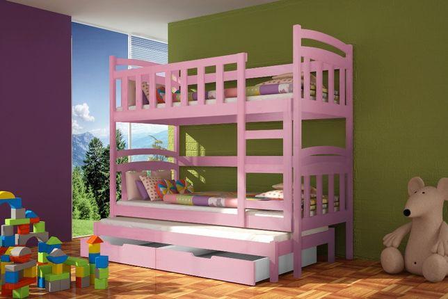Nowe drewniane łóżko dziecięce 3 osobowe! Hit sprzedaży!