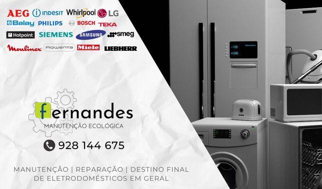 Consertos Eletrodomésticos máquina de lavar, frigorífico e lava loiça.