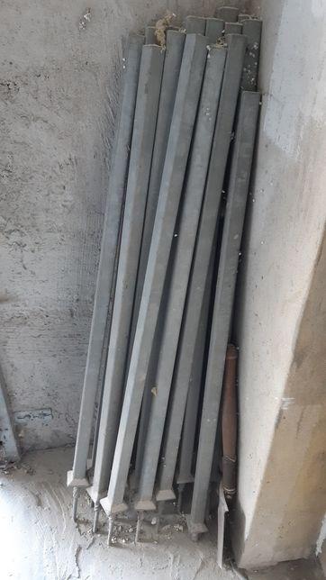 Ocynkowane słupki / balustrada 17 sztuk, masywne
