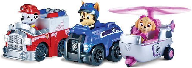 """Набор """"Щенячий Патруль"""" Paw Patrol - Чейс, Маршал, Скай на машинах"""