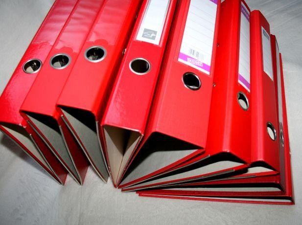 Tanio Używane segregatory SUPER STAN - czerwony komplet – 9 szt