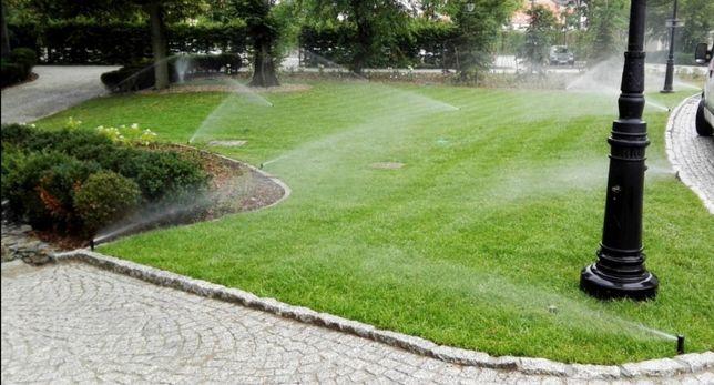 Zakładanie ogrodów trawników nawadniań wycinka drzew drenaże