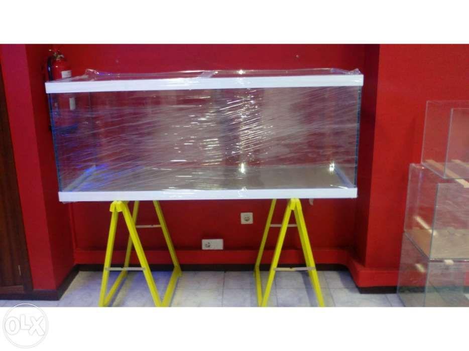Aquario novo 150 x 60 x 60 em vidro 12mm com tampas e perfil em vidr