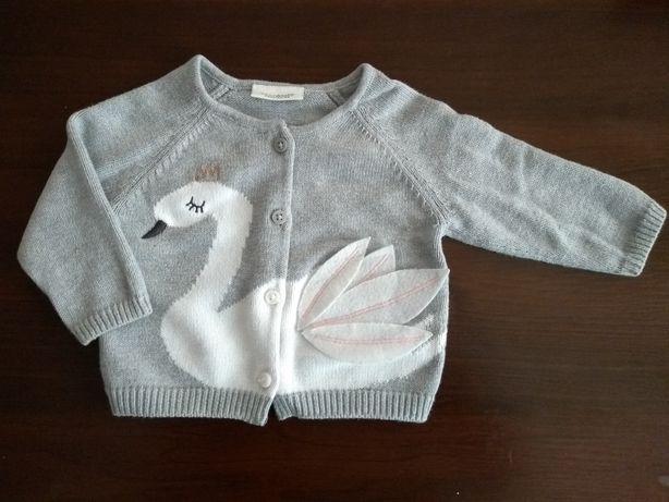 Szary sweterek Next 62 łabędź