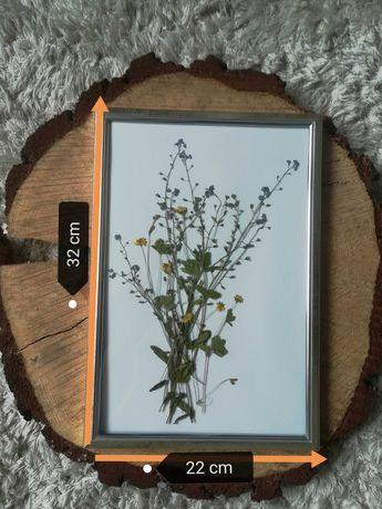 Obraz suszone polne kwiaty w ramce 32x22 cm