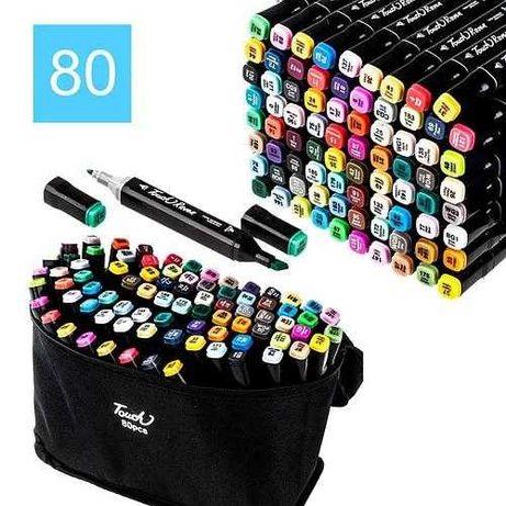 Набор - 80шт двусторонних маркеров для скетчинга и рисования