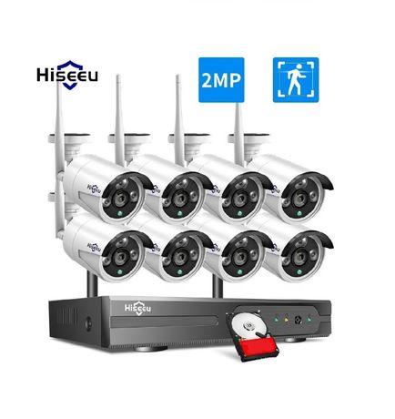 Kit Vídeo Vigilância WIFI Profissional 8 Cameras Exterior 1080