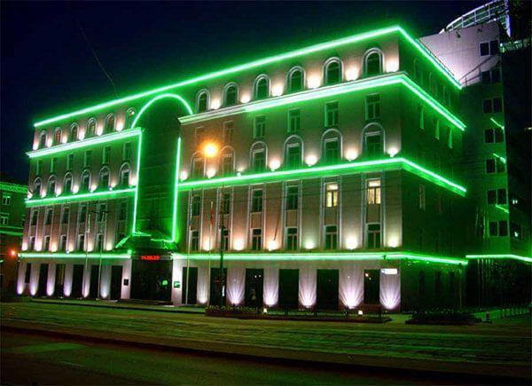 """Уличная Светодиодная гирлянда Дюралайт """"Rope Light"""" 20 метров Зеленый"""
