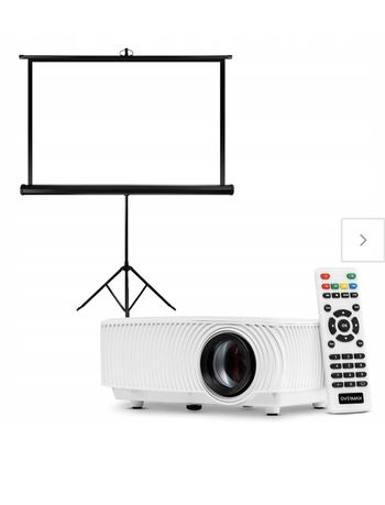Overmax Multipic 2.4 rzutnik projektor LED + ekran