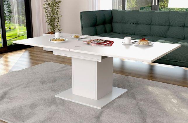 Ławostół ława rozkładana stół na podnośniku z półką praktyczny