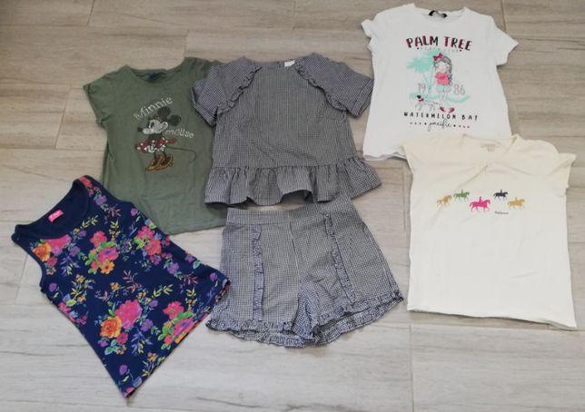 letni zestaw dla dziewczynek - koszulki + spodenki 8-11 lat