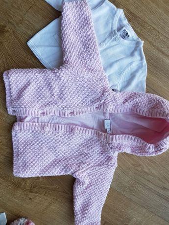 3 sweterki dla dziewczynki rozmiar 68cm i 74cm