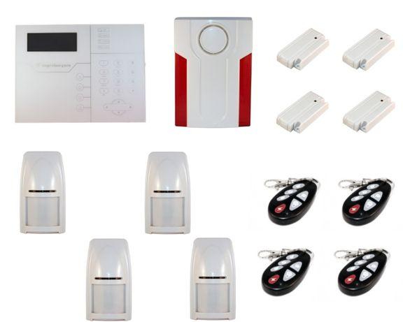 Alarme GSM sem fios Bidireccional Profissional + Sirene Wireless