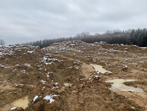 Ziemia-odpad z kopania stawu