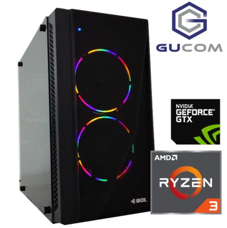Komputer do gier RYZEN GTX 1050 Ti 8GB SSD W10 LED