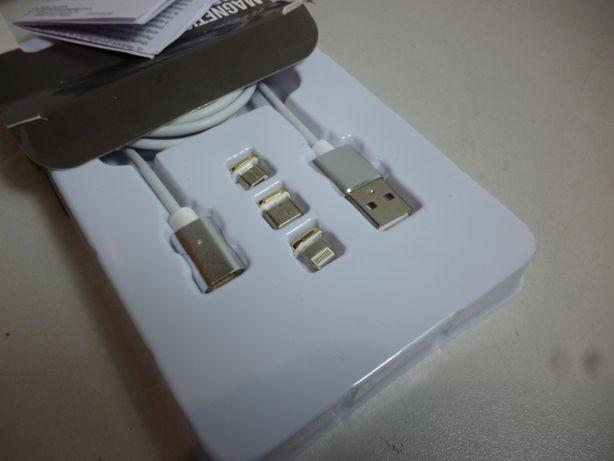Kabel ładujący 3 w 1 magnetyczny.