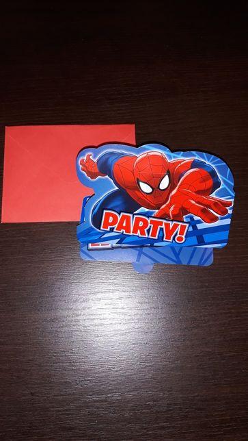 Zaproszenia spidermen urodziny