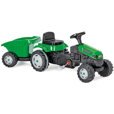 Детский трактор педальный с прицепом для 3-7 лет до 60 кг, прицеп