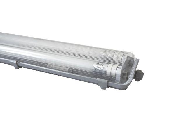 Lampa przemysłowa oprawa IP65 + 2x świetlówki LED wodoszczelna IP65