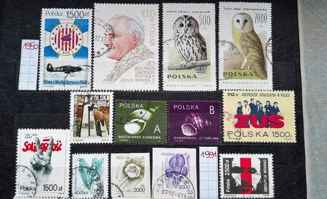 POLSKA - 100 sztuk ZNACZKI pocztowe - zestaw 2