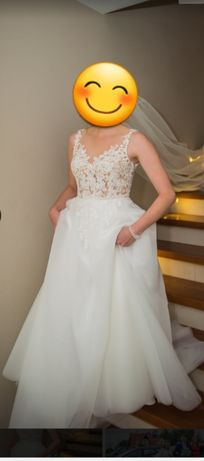 Suknia ślubna r.38 kolor ivory
