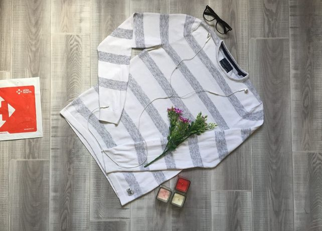Свитер белый Angelo, размер M L, тёплый котон шерсть кофта худи