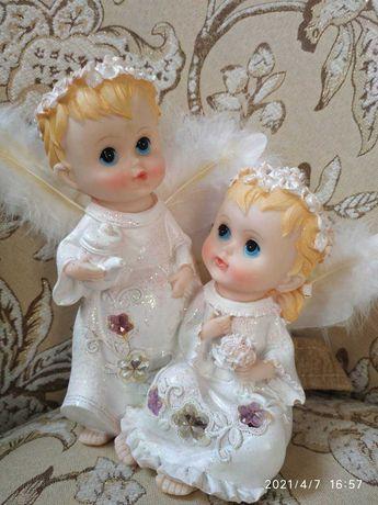Статуэтка,светильник,ночник Ангелочки,ангелы, 2 ангела, янголята