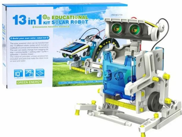 Робот-конструктор на солнечных батареях 13 в 1 SOLAR ROBOT