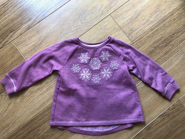 Ciepła zimowa bluza, tunika r. 98