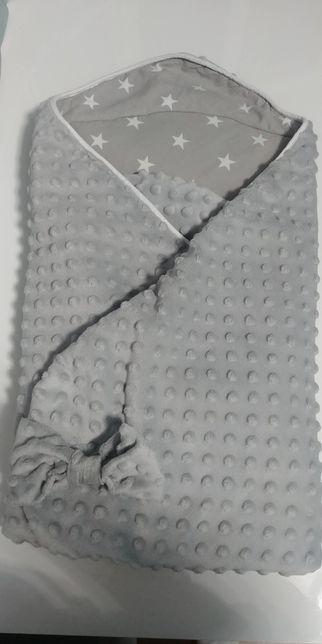Becik rożek niemowlęcy usztywniany minky