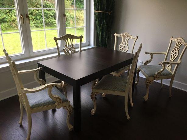 Krzesla stylowe drewniane duże