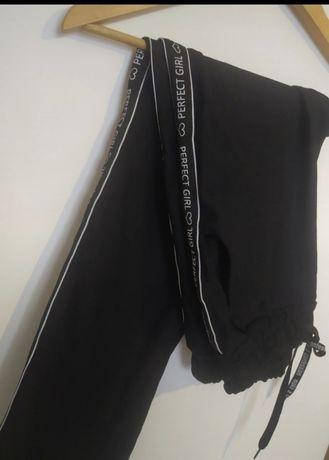 Spodnie elastyczne lampasy m/L