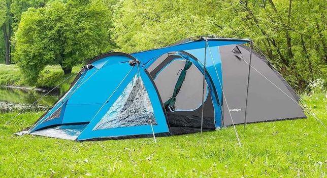 Туристическая палатка Acamper Soliter Pro 4, серая, 4-х местная