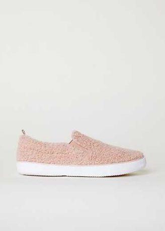 слипоны чешки балетки розовые деми HM Nike 37 р кеды кроссовки тапочки