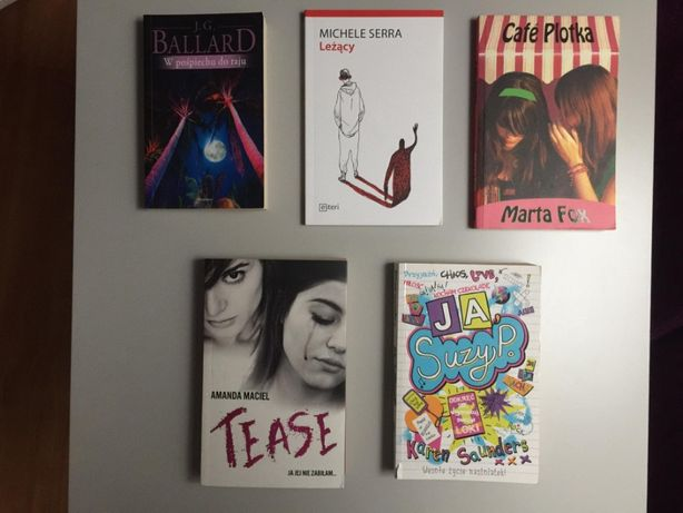 Książki dla młodzieży 5 sztuk