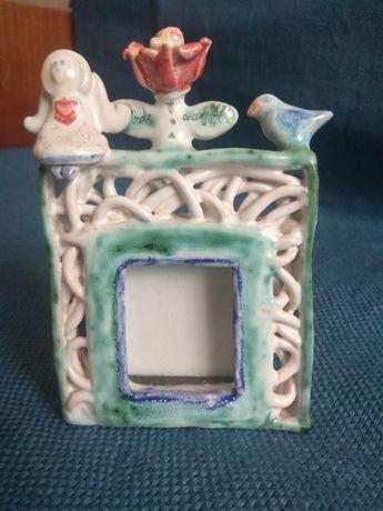 Самодельная керамическая рамочка для фотографии