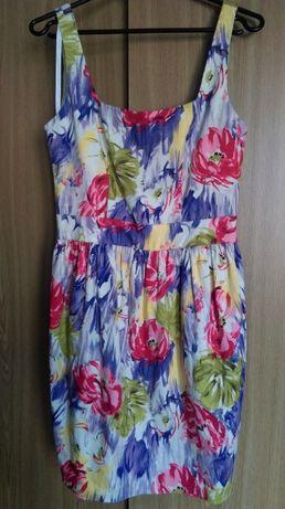 Wyprzedaż sukienka, kwiaty, wiosna, panterka 38