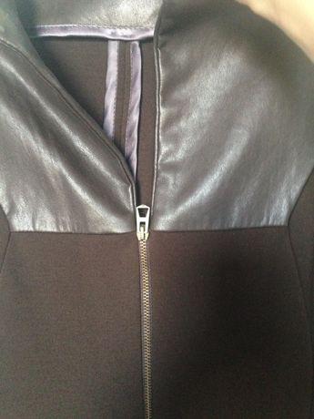 Куртка из теани и кожзама