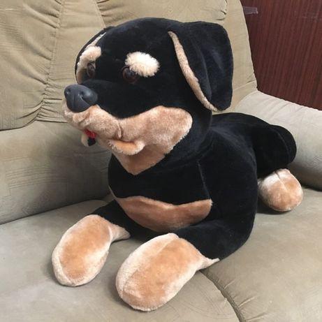 Ротвейлер мягкая игрушка большая собака