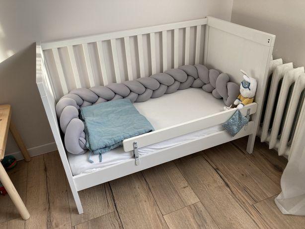 Łóżeczko Ikea 120x60 cm + barierka + materac