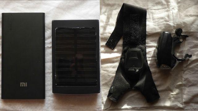 Power Bank 2 шт. + Велосипедный Фонарь + Перчатка С Подсветкой