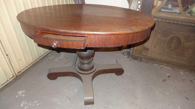 Mesa oval em madeira mogno - antiguidades