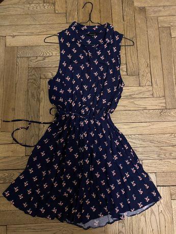 Синє плаття в квіти