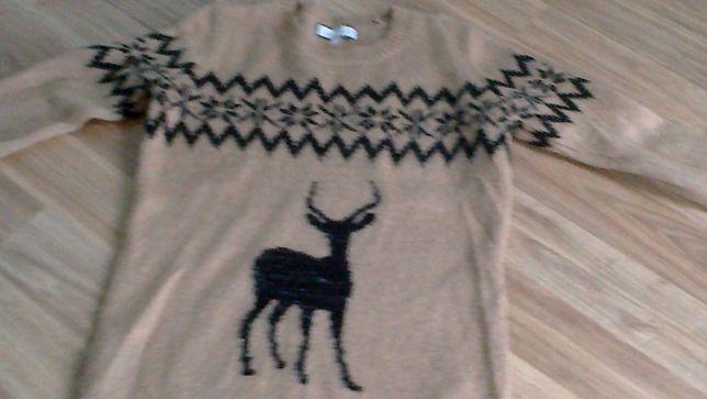 Sweter damski z reniferem